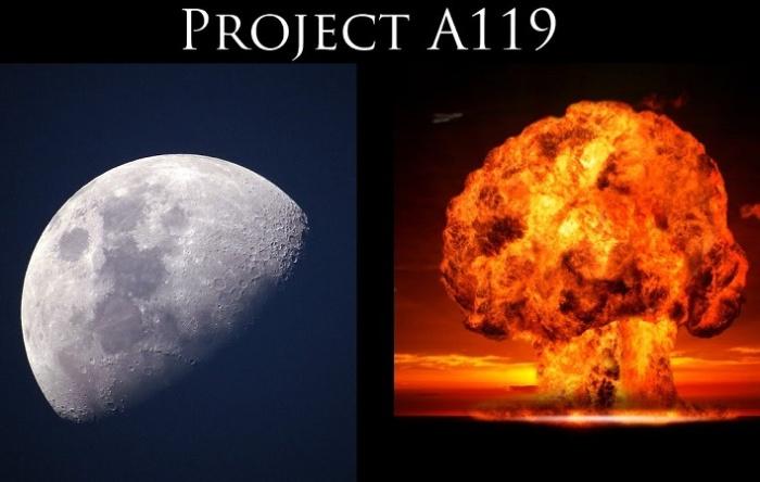 Американский проект ядерного взрыва на Луне А-119 / Фото: spacelegalissues.com