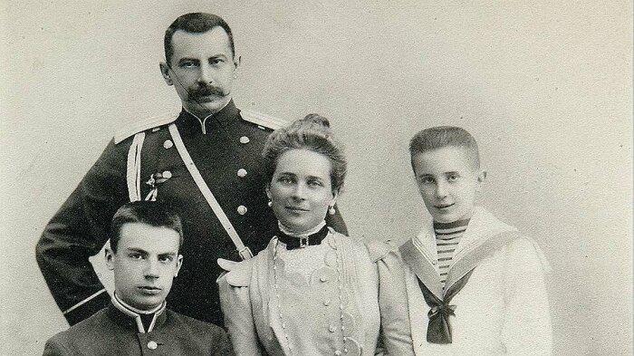 Зинаида Юсупова и Феликса Сумарокова-Эльстона с сыновьями. / Фото: liveinternet.ru