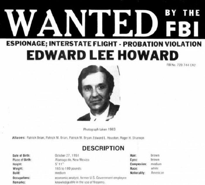 Ориентировка ФБР на Эдварда Ли Говарда, 1985 год / Источник: back-in-ussr.com