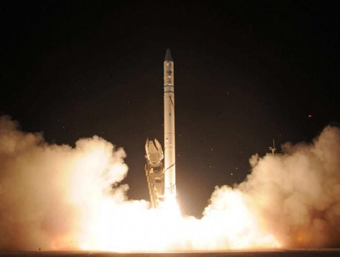Запуск израильской космической ракеты-носителя «Шавит» 19 сентября 1988 года / Источник: skyships.ru