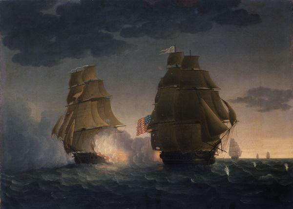 Американский фрегат President в морском бою / Фото: warspot.ru