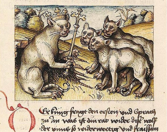 Средневековая карикатура на папу Григория IX и его послание Vox in Rama / Фото: picturehistory.livejournal.com