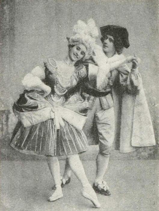 Анна Павлова и Михаил Фокин в постановке «Арлекинада» / Фото: www.liveinternet.ru