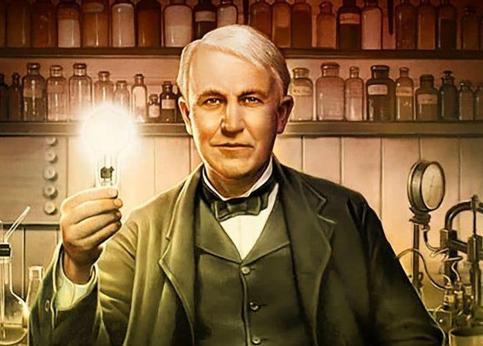Томас Эдисон изобрел лампу накаливания с угольной нитью / Фото: boilerroom408.ru