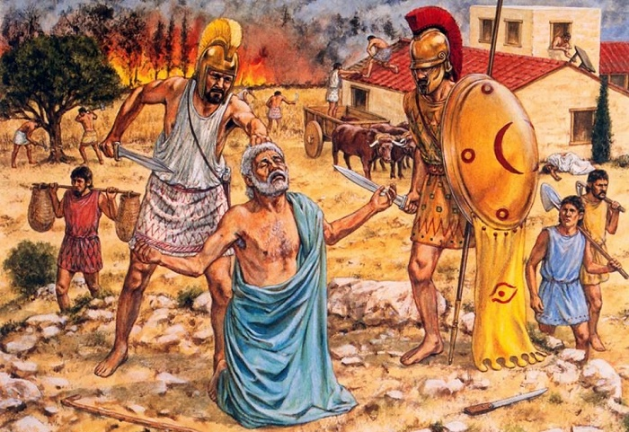 Расправа спартанцев над илотами, названная историками «стратегией разрушения» / Фото: i.pinimg.com