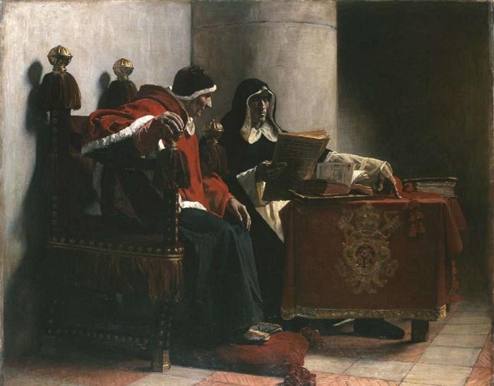 «Папа и инквизитор». Художник Жан-Поль Лоран, 1882 год / Источник: wikiart.org