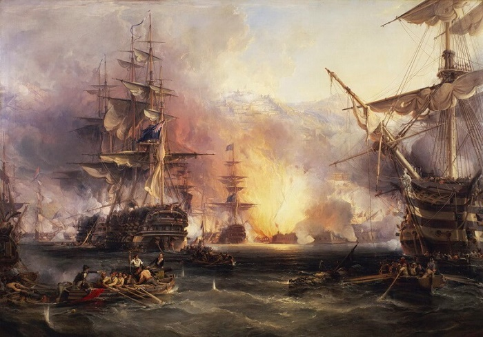 Обстрел англо-голландской эскадрой Алжира, 1816 год / Фото: warspot.ru