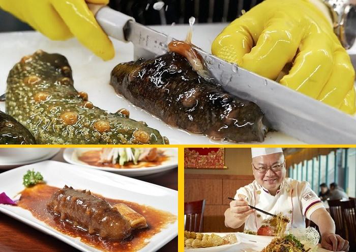 Приготовленный морской огурец может стоить более 100 долларов /Фото: culture.ru.