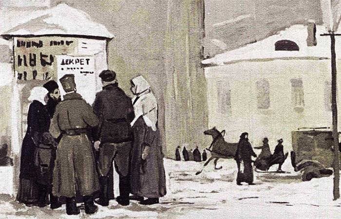 Первые декреты большевиков были написаны и опубликованы на русском языке / Фото: rbth.com