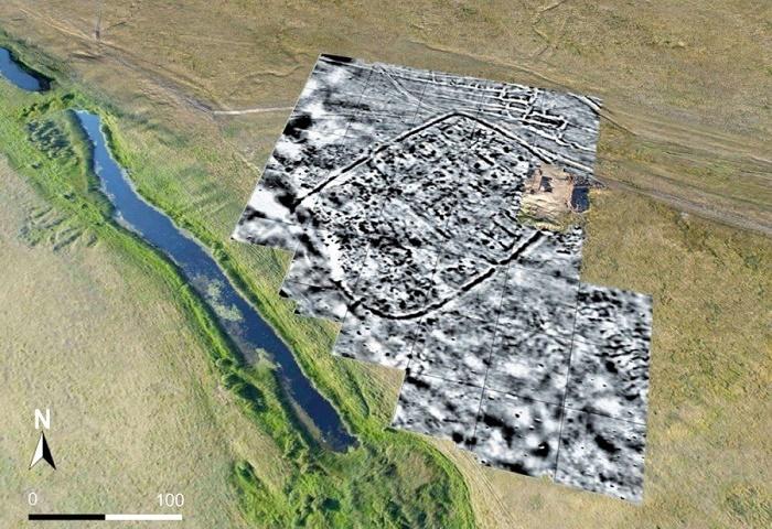 Пример карты, составленной компьютером после геомагнитного сканирования местности / Источник: susu.ru