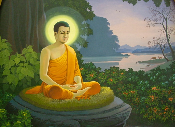 Будда Шакьямуни, достигший просветления / Фото: veggiepeople.org