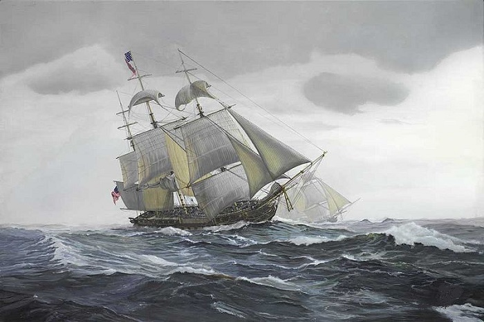 Американский парусный фрегат начала XIX века / Фото: bbc.com