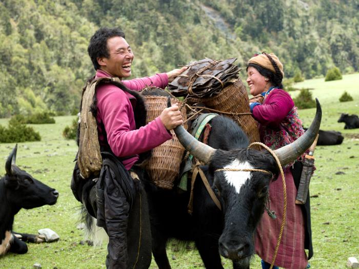 Жители королевства Бутан - одни из самых счастливых людей на Земле / Фото: tessabunney.co.uk