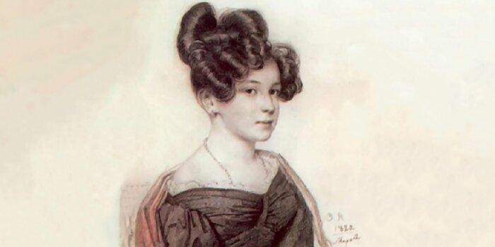 О. Кипренский «Портрет Анны Олениной», 1828 год. Фрагмент / Фото: www.mos.ru