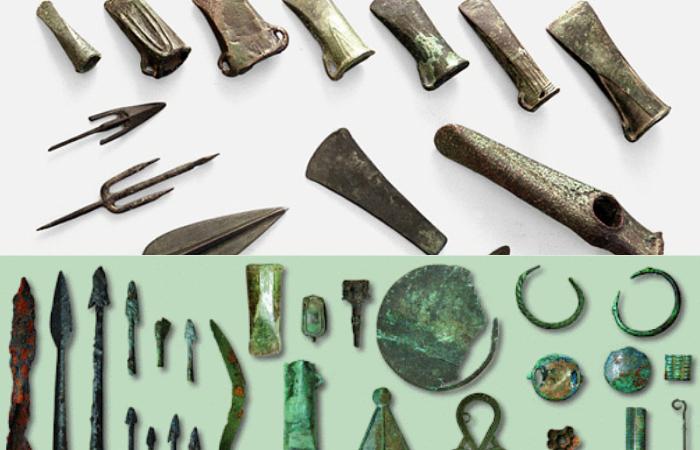 Примеры археологических находок времен Железного и Бронзового веков