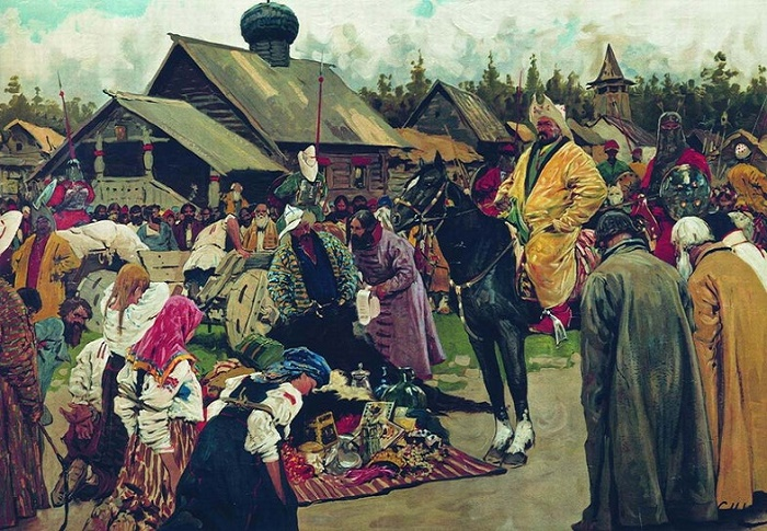 Картина Сергея Иванова «Баскаки», 1909 год / Фото: expresstorussia.com