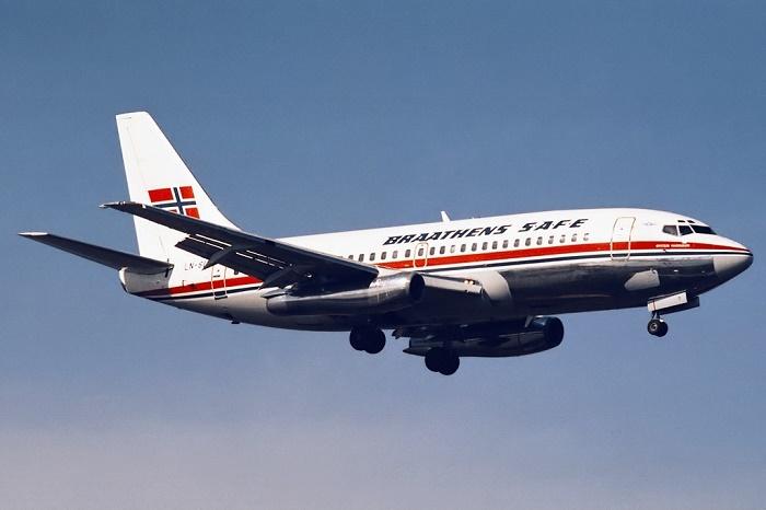 Пассажирский Boeing 737-205 авиакомпании Braathens SAFE / Источник: commons.wikimedia.org