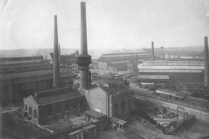 Завод компании Krupp. Германия, город Киль, 1914 год / Фото: aehistory.wordpress.com