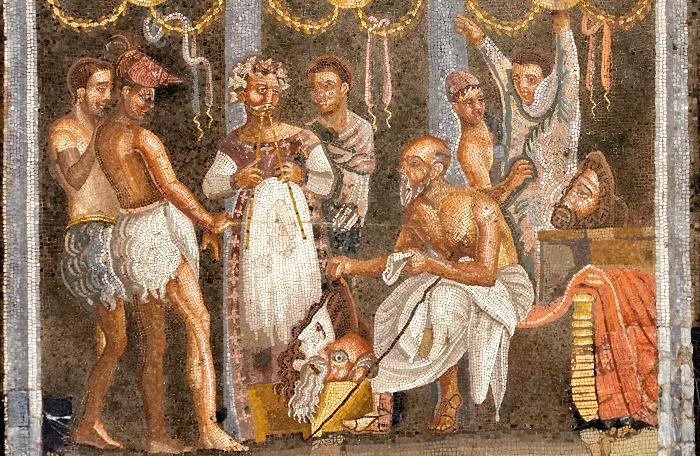 Спектакль в античном театре. Фреска II века до н. э. / Фото: pinterest.com