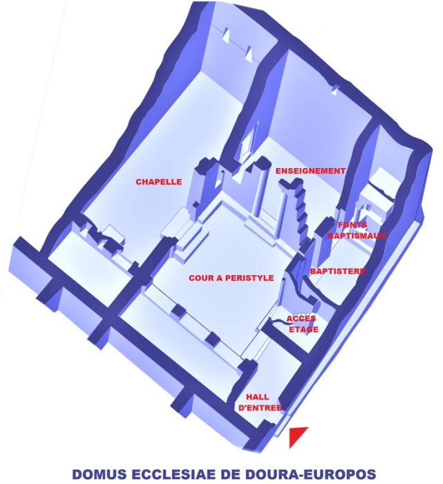 Схема христианской церкви в Дура-Европос / Источник: www.vanillamagazine.it