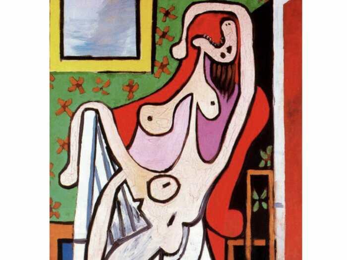 Пабло Пикассо «Большая обнажённая женщина в красном кресле», 1929 год / Фото: twitter.com