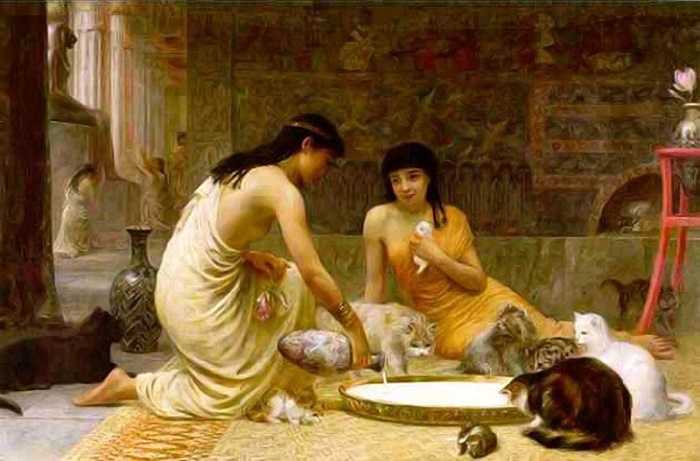 Для египтян кошки были священными животными / Фото: twitter.com
