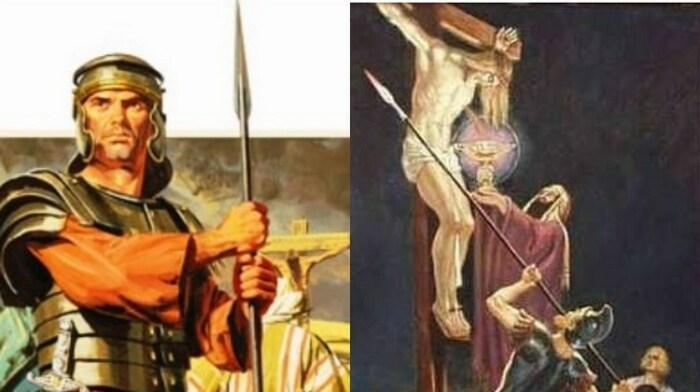 Римский сотник Гай Кассий Лонгин пронзил копьем Мессию, а капли крови, попав на его глаза, помогли прозреть