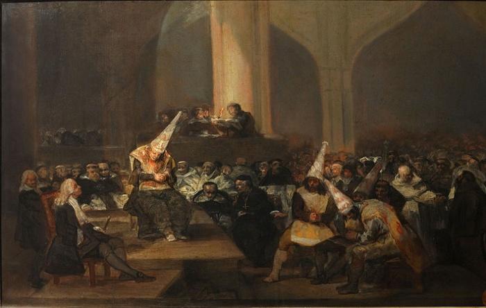 «Аутодафе» (суд испанской инквизиции). Художник Франциско Гойя (1812—1819 гг.) / Источник: wikipedia.org