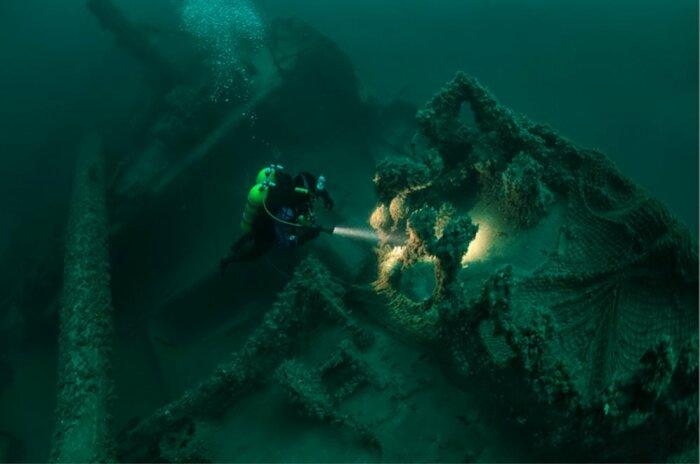 Археологическое исследование затонувшего корабля / Фото:  brighttravel.ru