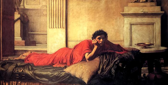 Нерон, снедаемый угрызениями совести за убийство матери, картина написана Джоном Уотерхаусом / Фото: commons.wikimedia.org