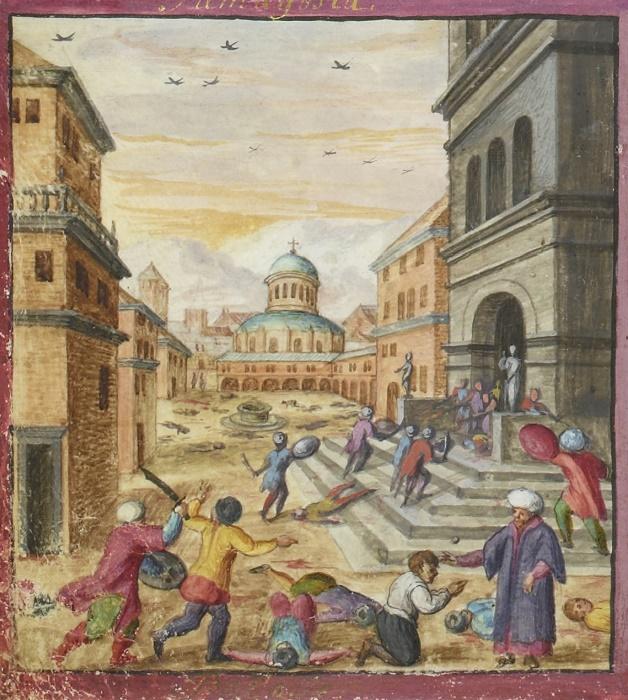 Захват османами Кипра. Рисунок XVII века / Фото: pinterest.com
