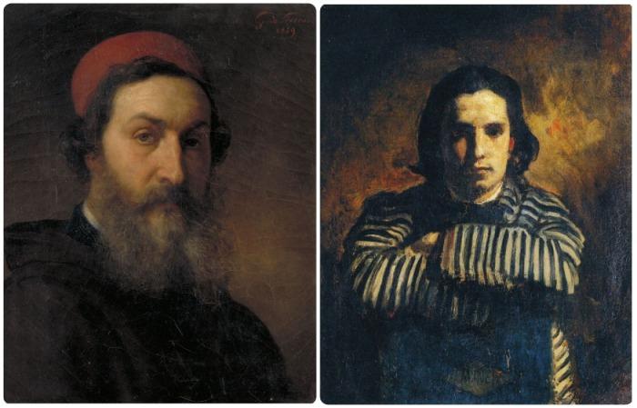 Жильбер де Северак (слева) и его портрет Клода Моне (справа) / Фото: pinterest.com