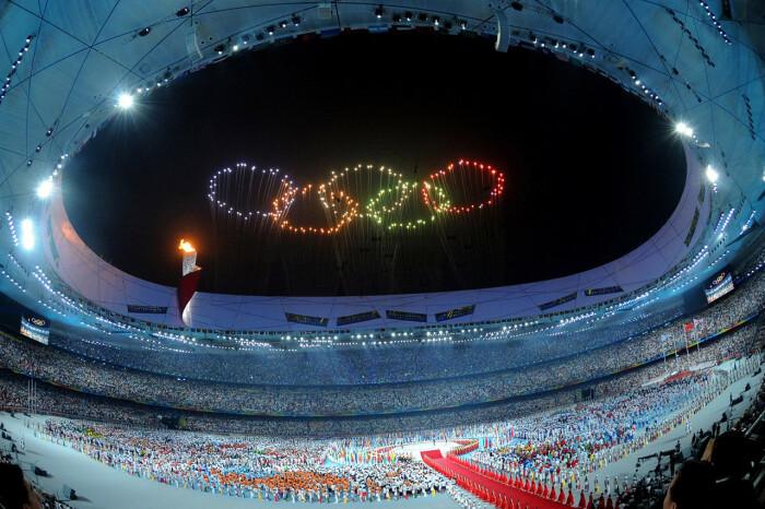 Работа Цая Гоцяна в честь открытия Олимпийских игр в Пекине / Фото: wsj.com