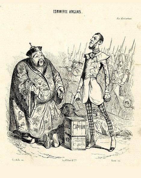 «Британская коммерция», карикатура из французской газеты, 1860 года / Фото: koiosllc.com