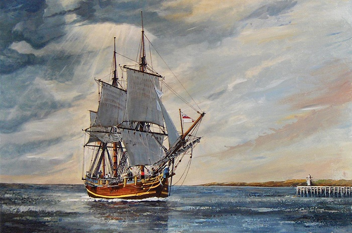 Трехмачтовый парусник HMS Bounty / Источник: wikipedia.org