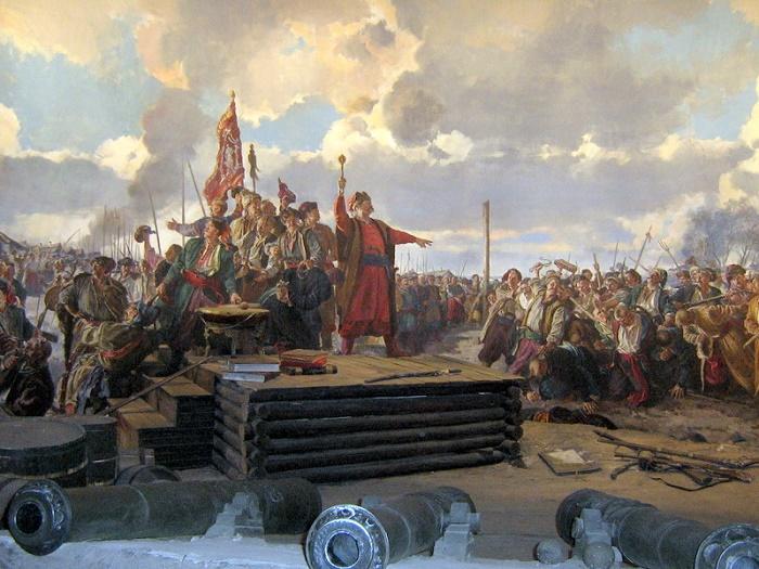 Картина «Казацкая рада». Исторический музей г. Запорожье. / Фото: photoukraine.com