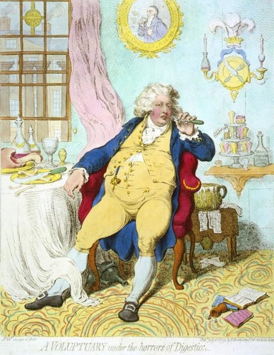 Карикатура на Георга IV, H. Humphrey, 1792 год / Фото: twitter.com