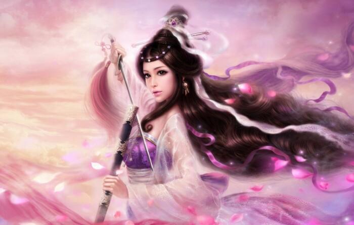 Богиня Сакура, которая защищала воинов в битвах. / Фото:goodfon.ru