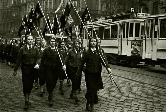 Марш немецких девушек из Bund Deutscher Madel, 1938 год / Фото: hermsdorf-regional.de
