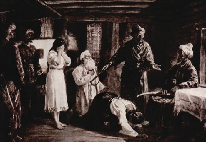 Гравюра И. Гурьева «Баскаки», 1876 год / Фото: rbth.com