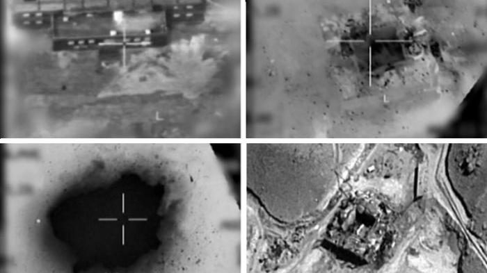 Кадры съемки объекта «Куб» израильскими ВВС