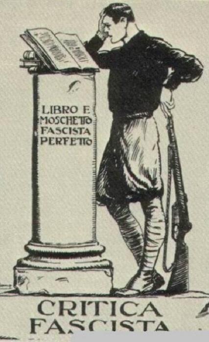 Обложка главного идеологического печатного издания итальянских фашистов / Источник: sensusnovus.ru