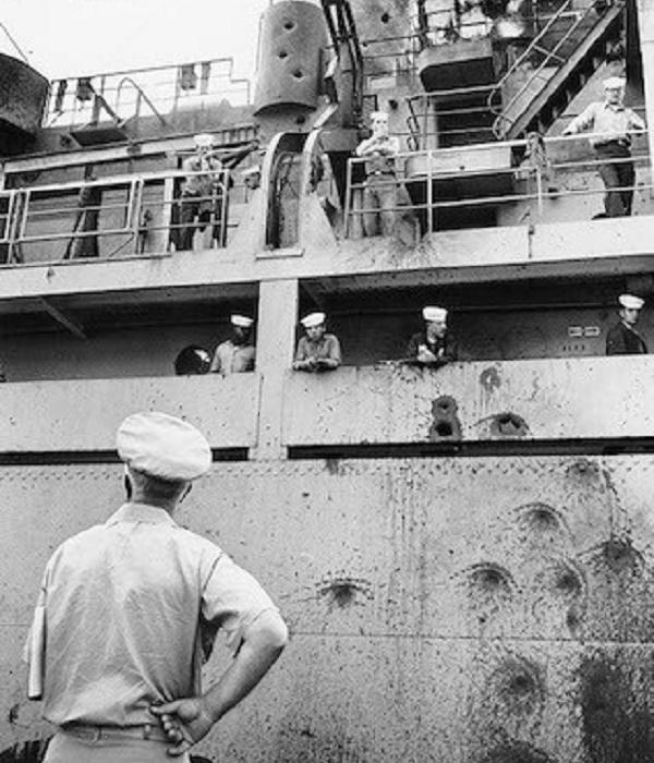Повреждения на борту USS Liberty / Фото: njeha.com