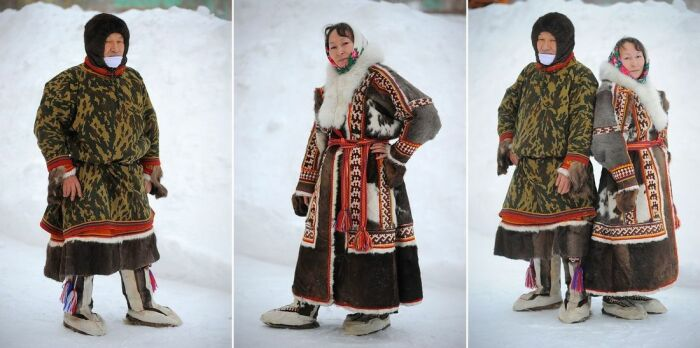 Энецкая пара в традиционных нарядах / Фото: www.ttelegraf.ru