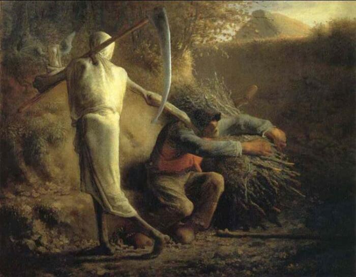 Жан-Франсуа Милле. «Смерть и дровосек», 1859 год / Источник: wikiart.org