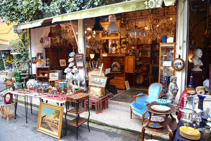 Блошиный рынок в Париже / Фото: www.pinterest.ch