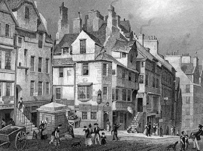 Улица Эдинбурга, гравюра начала XVIII века / Источник: nationalgalleries.org