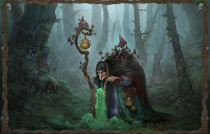 Баба Яга - знаменитая ведьма русских сказок / Фото: https://funart.pro