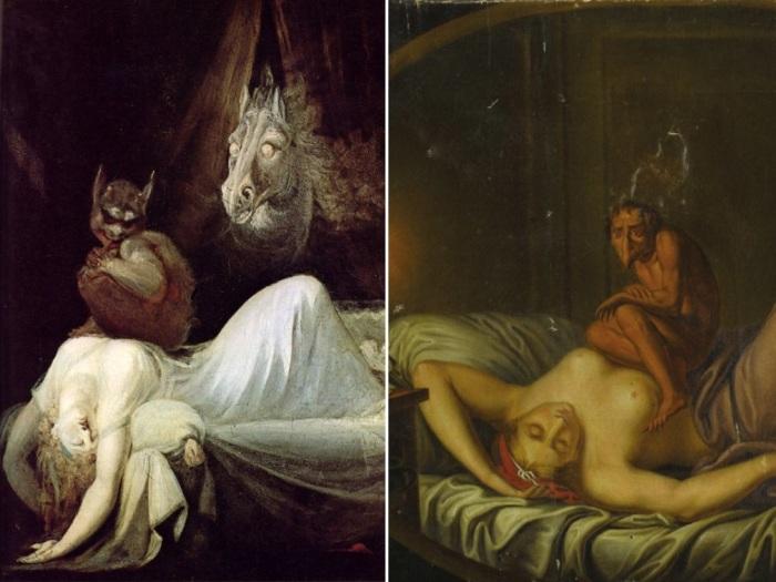 У «Ночного кошмара» Фюзели существует несколько версий