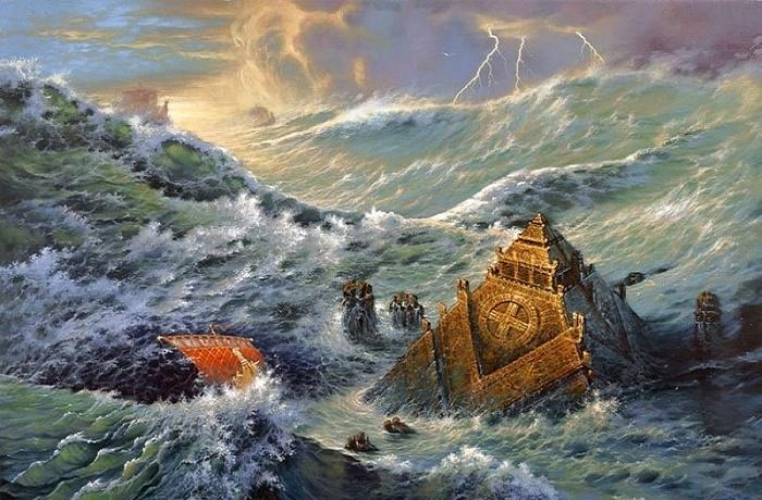 Гибель Атлантиды. Иллюстрация. / Фото: btet.ru